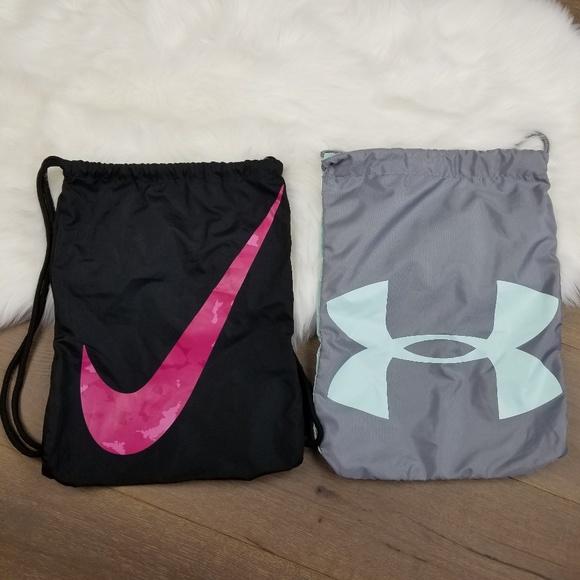 Nike   Under Armour drawstring bag Bundle. M 5b9dcc532e1478008e1a7527 6b82aa82b081c